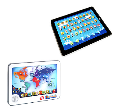 Junior kidpad preschool educational speaking musical toy tablet brand new chad valley interactive junior touch tablet touch pad world map gumiabroncs Gallery