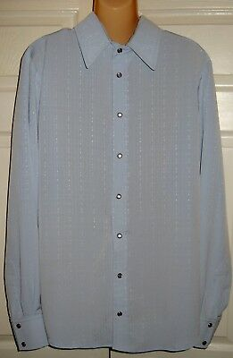 "Amish Mennonite Men's Shirt Handmade Homemade Chest 44"" EUC"