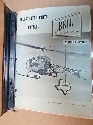 Bell Helicopter Model 47G-2 Illustrated Parts Manual 1960 Original