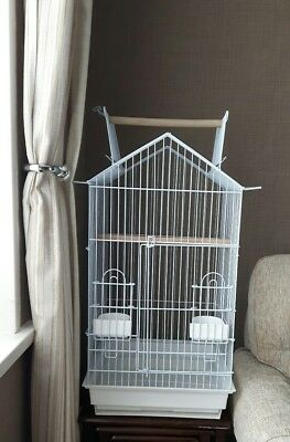 (4 Pack) Bird and Parrot Cage for Cockatiel, Ringnecks and similar size birds
