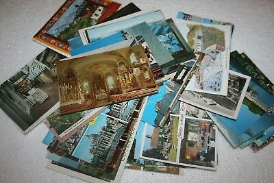 50x Old Vintage Postcards Collection UK & Foreign 1970s/80s Ephemera Journals