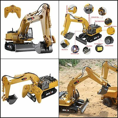 RC Construction Excavator Tractor Digger Radio Remote Control Electric Bulldozer