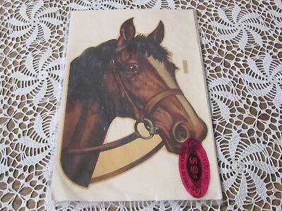 VTG MEYERCORD DECORATOR HORSE HEAD DECAL 1503 -  New Old Stock