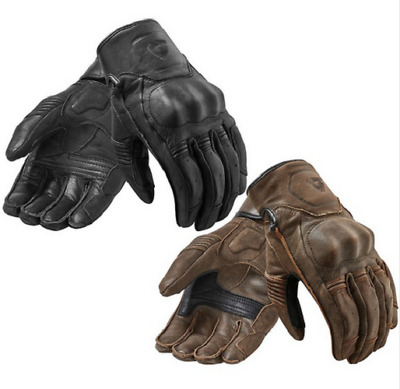 2018 Revit Palmer Motorcycle Gloves Full Leather Retro Urban Moto Gloves short-c