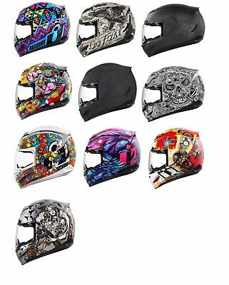*FAST FREE SHIPPING* ICON Airmada (All Graphics) Motorcycle Helmet FULL FACE