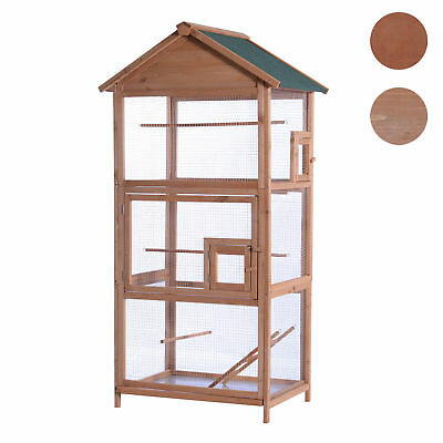 """Lovupet 70"""" Wood Bird Cage Play House Parrot Finch Cockatoo Macaw Aviary Pet"""