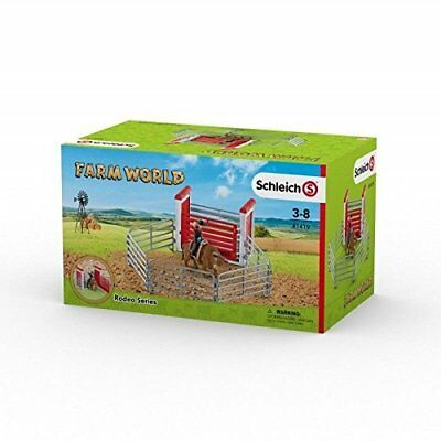 Schleich Bull Riding With Cowboy Set Rodeo Series Farm Life Cow Model Toy Figure