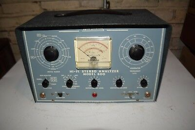 vintage win-tronix hi-fi stereo analyzer model 800 powers up