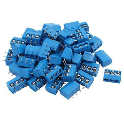 100PCS blue ABS KF301-3P 5.08mm 3 Pin Connect Terminal Screw Terminal Conne I3V4