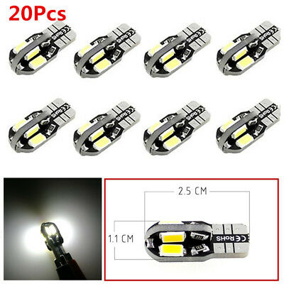 20X T10 194 168 W5W 1.08W 8 LED Canbus SMD White Car Side Wedge Light Lamp Bulb