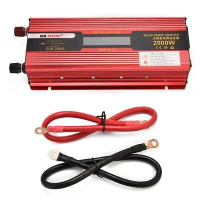 4000W Peak Car Power Inverter DC 12V to AC 110V/220V 2000W USB Charger Converter
