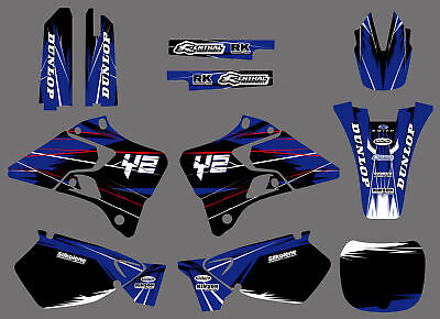 Graphics Background Decal Kit For Yamaha YZ 125 250 96 1997 1998 1999 2000 2001
