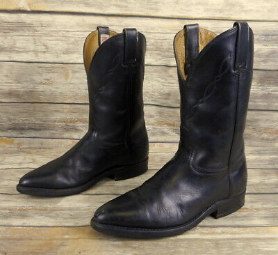 80a1c29910c RUDEL COWBOY BOOTS Black Leather Mens Size 6.5 D Country Western Rockabilly  VTG