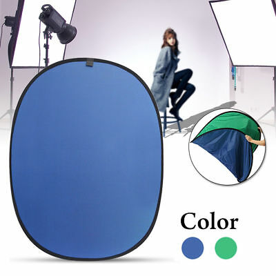 Green/Blue 2 In 1 Background Panel Reversible Collapsible Screen Popup Backdrop