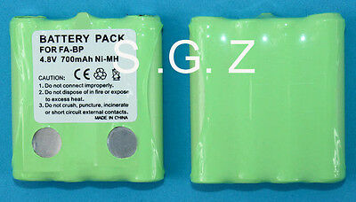 4.8V NI-MH Battery Pack For Cobra MicroTalk 2/Two Way Radio Walkie Talkie FA-BP