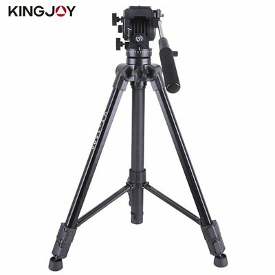Kingjoy VT-1500 Camera Tripod Flip Lock Video Tripod With Fluid Damping Head BS