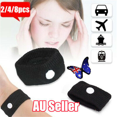 2~8PCS Anti Nausea Wristbands Travel Sick Bands Motion Sea Plane Car Sickness NW