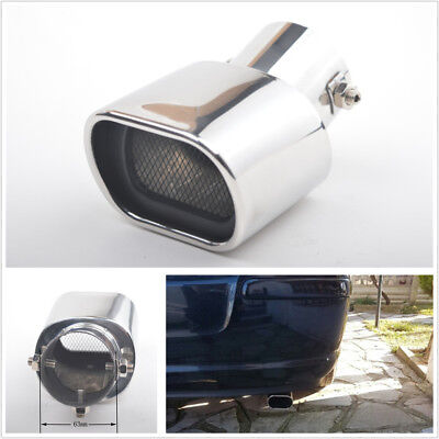 Universal Chrome Car Stainless Steel Exhaust Tail Muffler Tippipe Curved Durable
