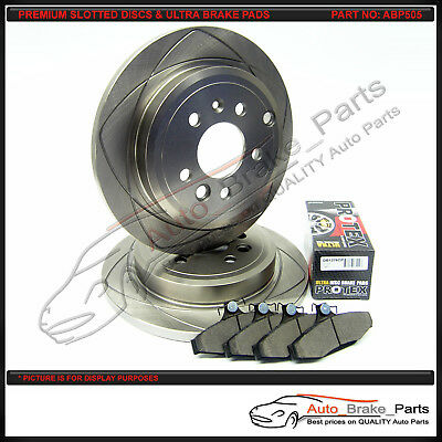 PREMIUM SLOTTED Rear Discs & ULTRA Brake Pads suit FORD FALCON BA BF FG FGX