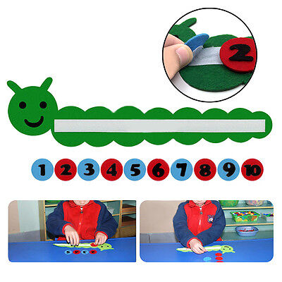 Baby Kids Wooden Numeric Sorting  Educational Toy Caterpillar Block Puzzle DIY