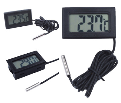 1-10m lang Thermometer digital LCD -50+110°C Temperatur Anzeige Messer