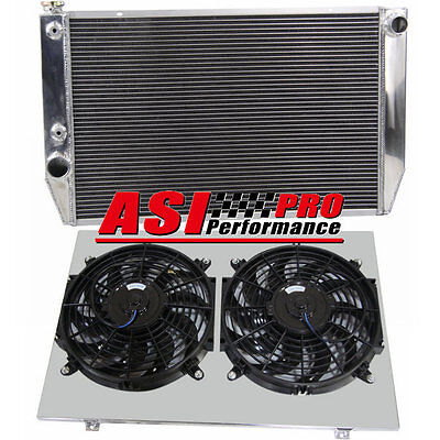 3 ROW Aluminum Radiator +Shroud Fans FOR Ford Falcon V8 6cyl XC XD XE/XF AT/MT