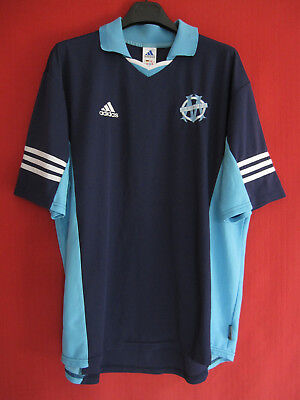 Football jersey Olympique Marseille Training sky and navy OM Adidas vintage - XL