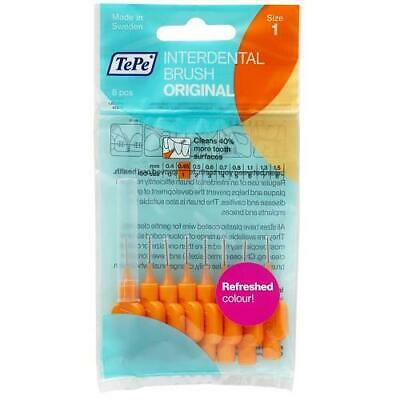 TePe Interdental Brushes - Orange G2 XXX-Fine 0.45mm - 1 Pack of 8 Brushes