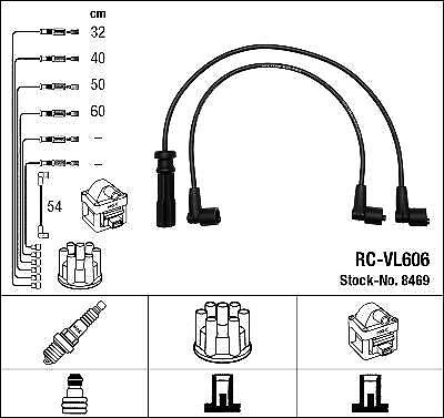Ignition Ht Lead Set Ngk Rc-Vl606             8469