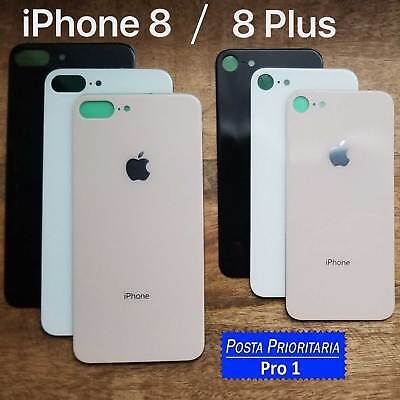 SCOCCA VETRO POSTERIORE per IPHONE 8 / 8 PLUS BACK COVER COPRI BATTERIA HOUSING