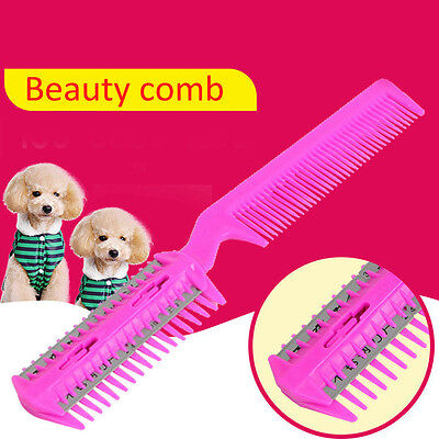 Pet Hair Trimmer Comb Cutting Cut Dog Cat With 4 Blades Grooming Razor thinning#