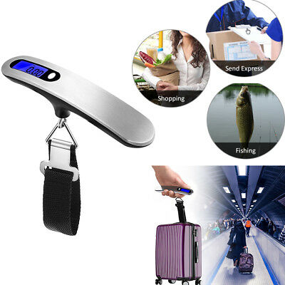 Electronic Portable Digital Luggage Scale Handheld Travel Suitcase Weighing 50KG