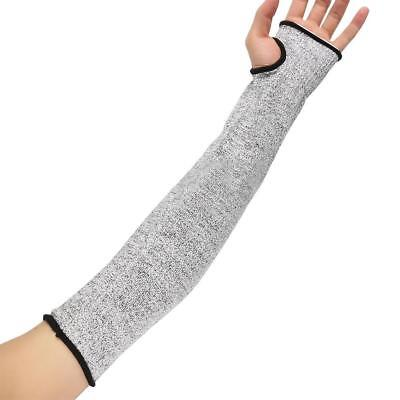 1Pair Safety Cut Heat Resistant Sleeves Arm Guard Protection Armband Gloves Grey