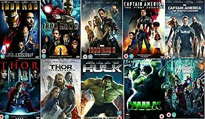 AVENGERS ULTIMATE MARVEL 9 MOVIES DVD Complete Collection UK Rele New Sealed R2