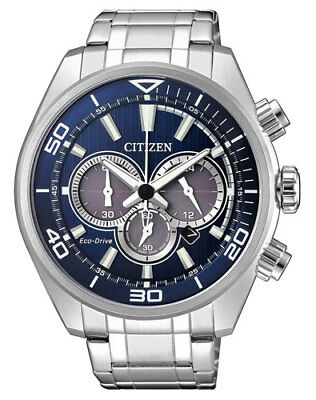 Citizen Herrenuhr CA4330-81L Chronograph Eco-Drive Solar Datumsanzeige 45 mm
