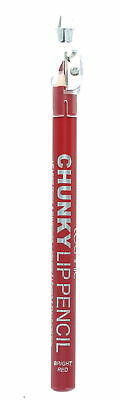 Technic Chunky Lip Liner & Colour Pencil with Sharpener-Bright Red