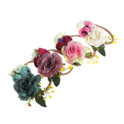 Newborn Flower Headband Girls Baby Handmade Headwear Children Photography Props