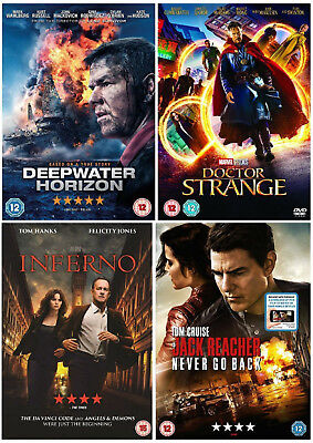 ACTION COLLECTION DVD Deepwater Horizon Doctor Strange Inferno Jack Reacher New