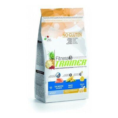Trainer Fitness 3 Adult Medium Maxi con Salmone Mais Olio 12,5 kg (GRATIS SPEDIZ