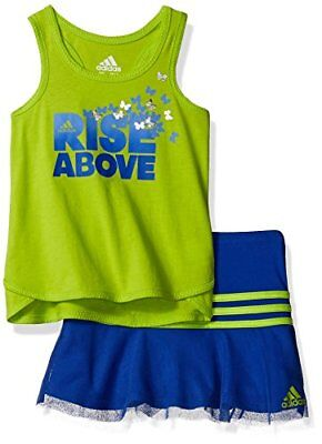 Adidas Baby Girl's Toddler Top and Skort Skirt Set Size 18 months AG4094