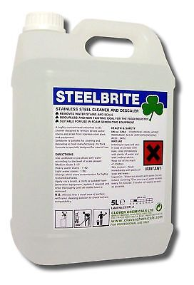 Clover Steelbrite Stainless Steel Cleaner 5Ltr Industrial Commercial Kitchen