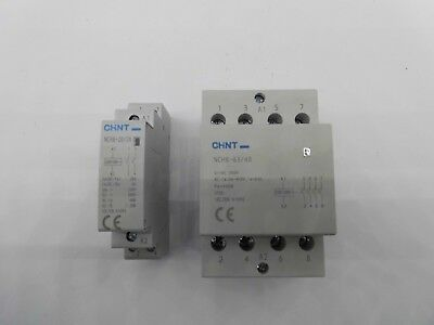 Chint Nch8 Modular Ac Contactors Installation 20 Amp, 63 Amp, 2, 4 Pole 230 Volt