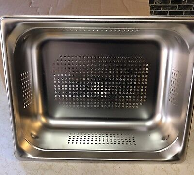 Vollrath 90243 Super Pan 3® 1/2 Size Anti-Jam Stainless Steel Perforated Steam