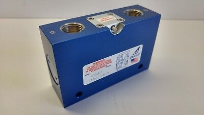 """Aladco 605001 Dual Check Valve 1/2"""" Bspp W/override & Dual Ext. Push Button"""