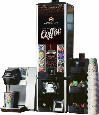 K-cup vending machine, Keurig K145 Commercial, coffee station organizer-empty
