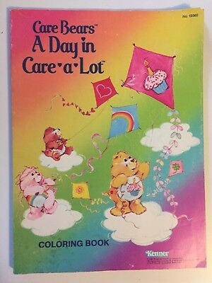 Vtg 1984 Kenner Care Bears Coloring Book NEW