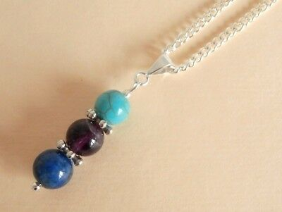 Gemstone Crystal Healing Anxiety Depression OCD Support Necklace Gift Bag