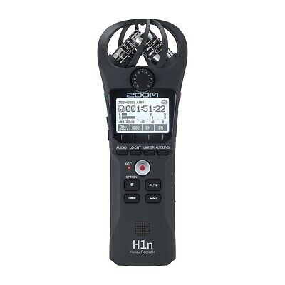 Zoom H1n Handy Portable Digital Stereo Condenser Mics Audio Recorder w/ Software