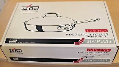 All-Clad 41096NS Stainless Steel 3-Ply Bonded Dishwasher Safe French Skillet