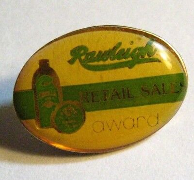 Rawleigh Vanilla Extract Lapel Pin - Food Household Products Retail Sales Award